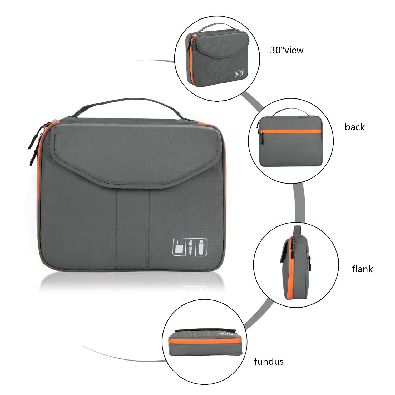 Phone Power Bank Electronic Organizer iPad or Tablet E-book Kindle ...