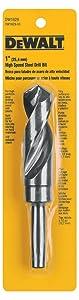 DEWALT DW1629 1-Inch 1/2-Inch Reduced Shank Twist Drill Bit