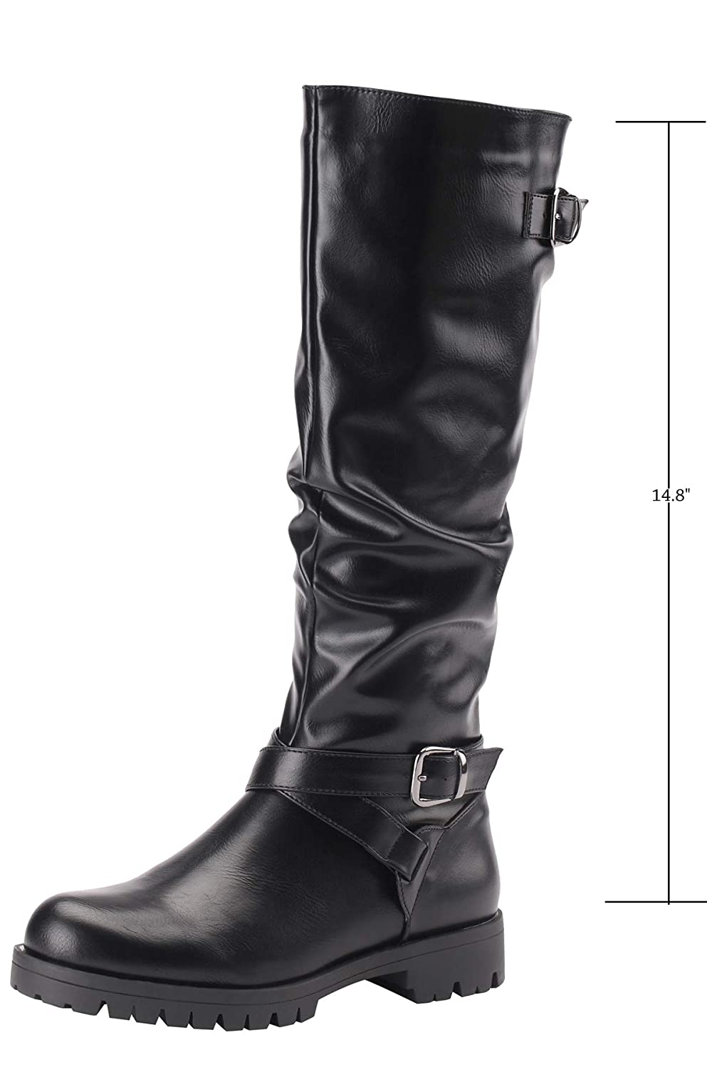 Black3 Sofree Women's Knee High Riding Boots