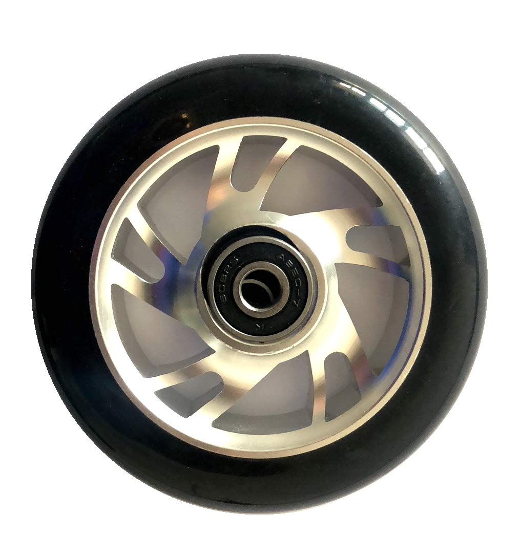 FREEDARE Scooter Wheels 100mm Pro Stunt Scooter Replacement Wheels with ABEC Bearings(Silver, Set of 2) by FREEDARE