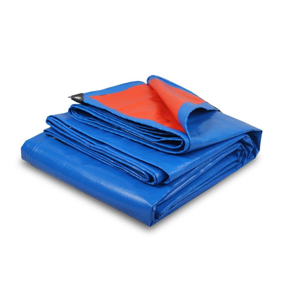 BÂche Imperméable à l'eau de bÂche de bÂche imperméable multifonctionnelle de Poncho de Feuille de bÂche, Bleu + OrangeThickness 0.35MM, 180g   m², 12 Tailles d'options