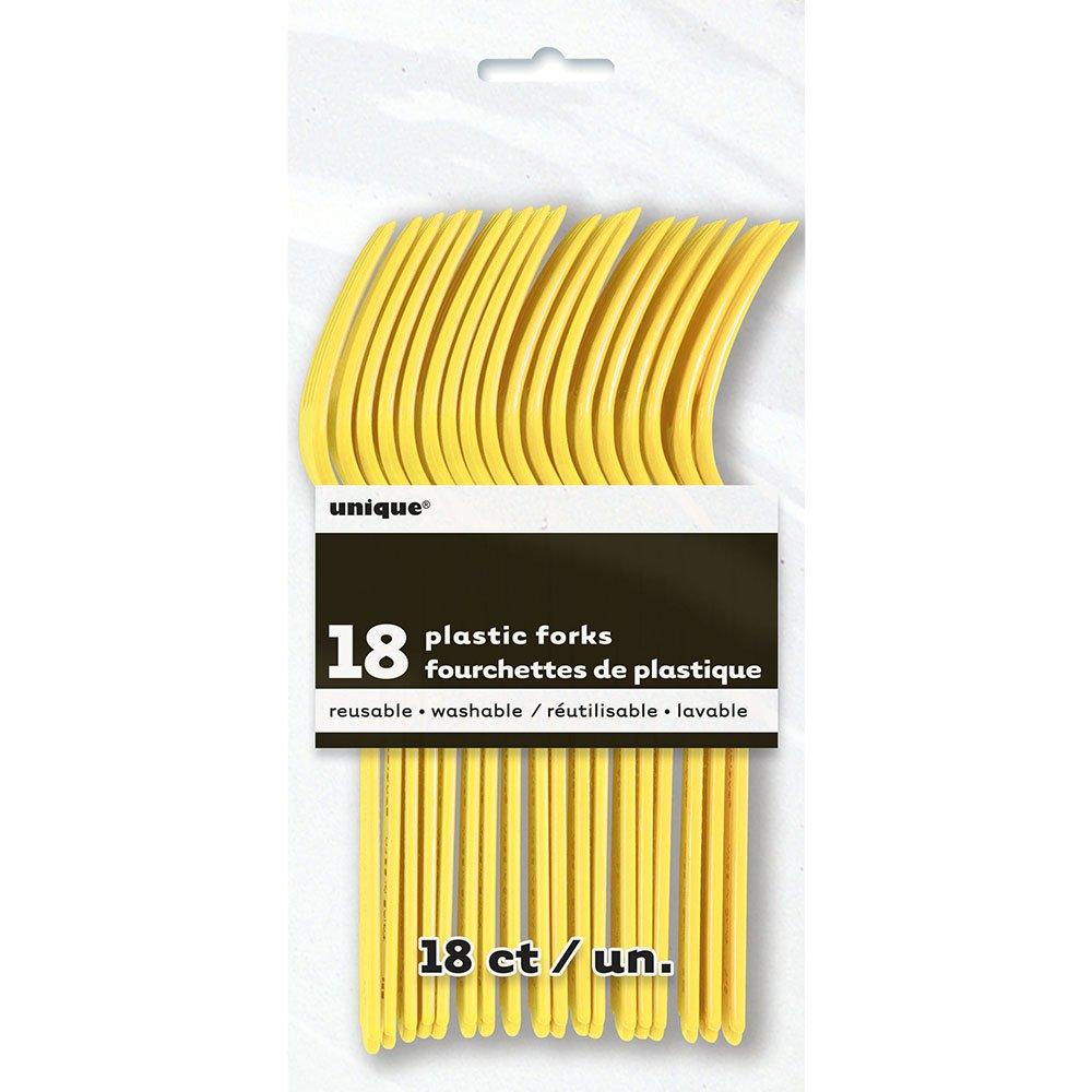 18ct Gold Plastic Forks