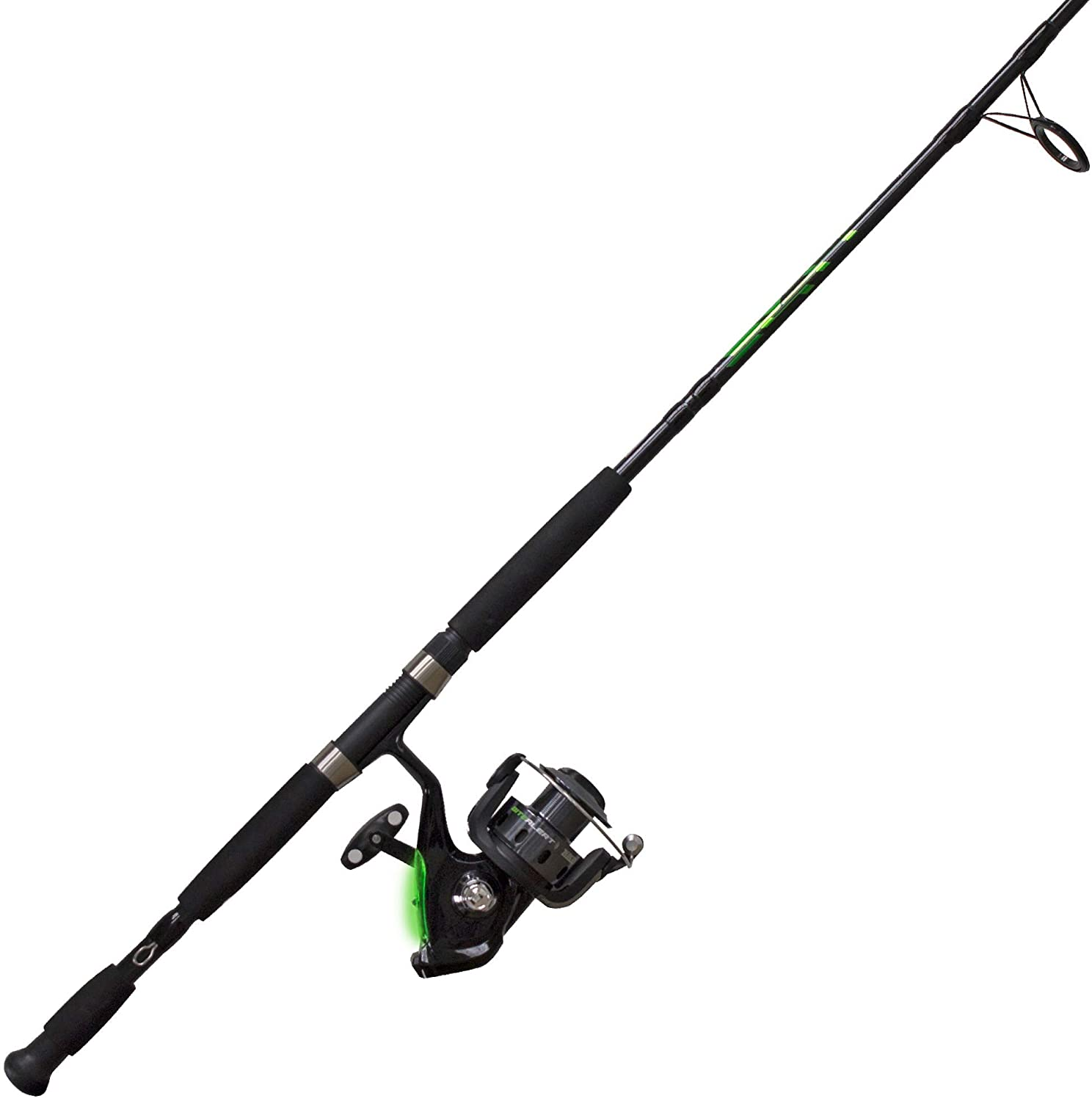 6 | Quantum Fishing Zebco Bite Alert Spinning Reel and 2-Piece Fishing Rod Combo
