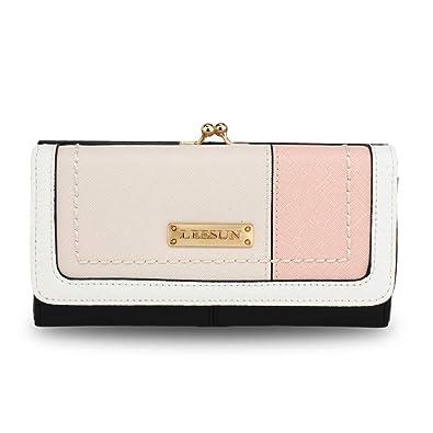 f3cbf22ee675 Ladies Large Purses Women Wallet Zip Designer New Luxury Card Holder Long  Handbag With Kiss Lock