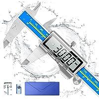 Digital Caliper, Qfun 6 Inch Caliper Measuring Tool Extreme Accuracy IP54 Waterproof Electronic Vernier Caliper…