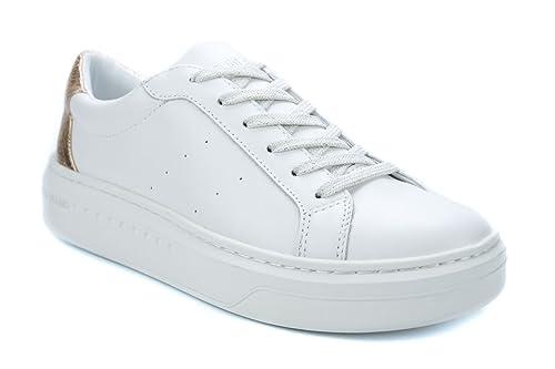 Desconocido No Name - Zapatillas de Deporte de Otra Piel Mujer, Blanco (Blanco), 37: Amazon.es: Zapatos y complementos