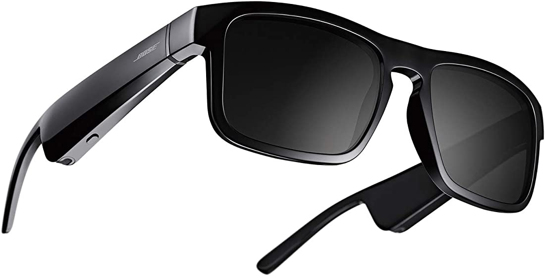 Occhiali da sole con audio bluetooth, rettangolari e con lenti polarizzate, nero   bose frames tenor 851340-0100
