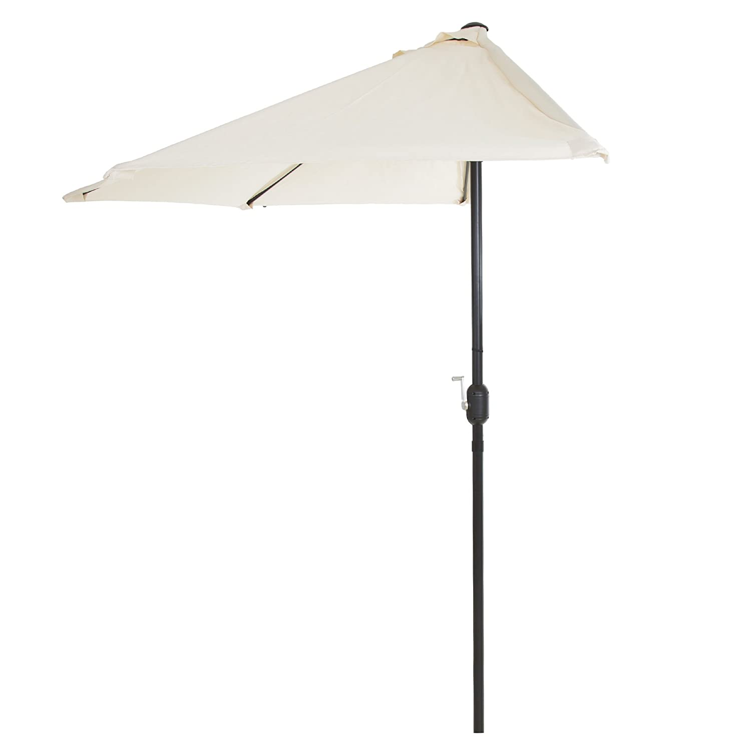 Pure Garden 9 Half Round Patio Umbrella, Tan