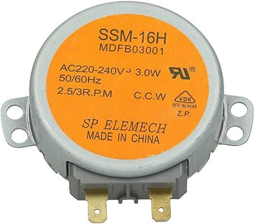 Spares2go SSM-16H - Motor giratorio de CA para horno de microondas ...