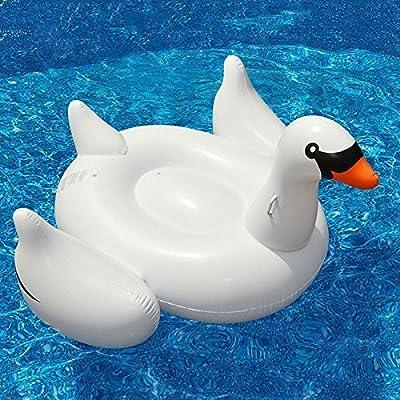 Mystery&Melody Gigante Rose Gold Flamingo Flotador Piscina Inflable al Aire Libre Piscina Flotador Balsa Lounger Flotante Salón Juguete para Adultos ...