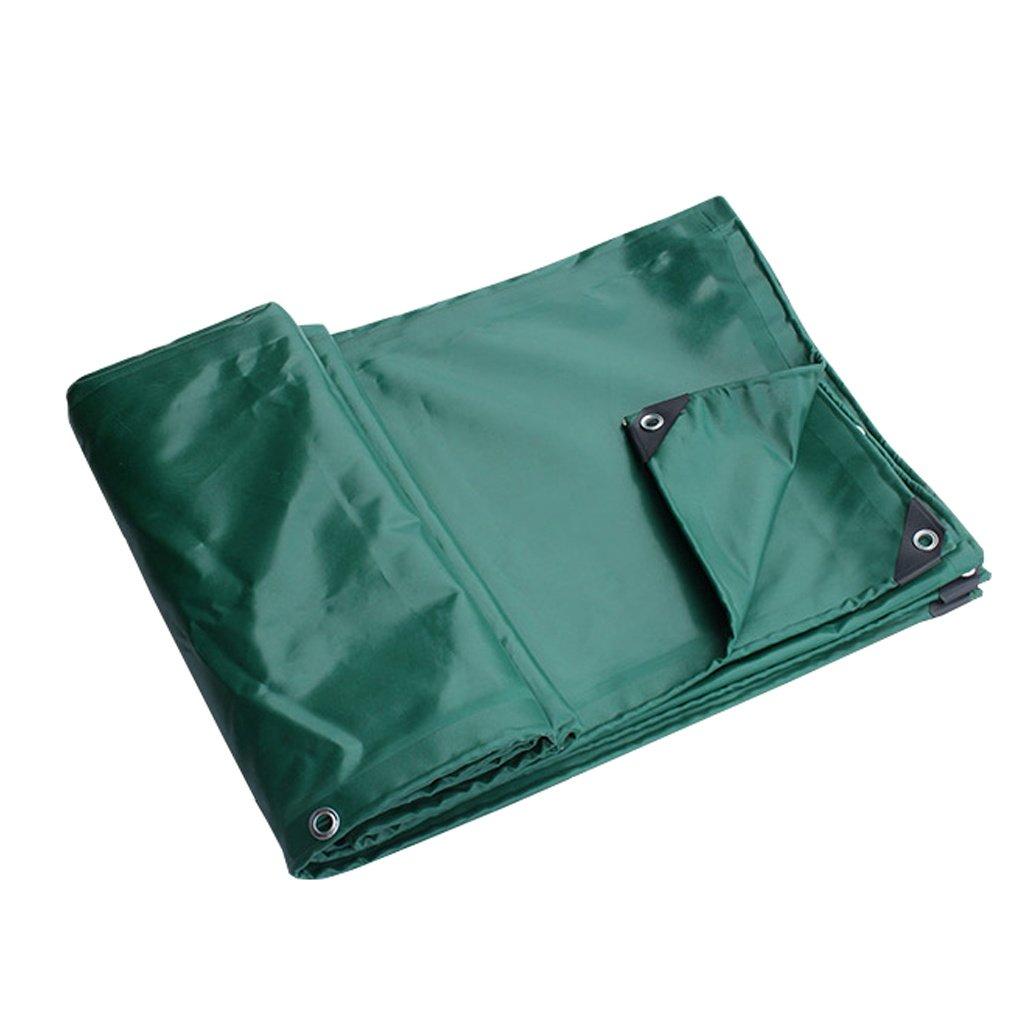 Zelt Zubehör Plane Grüne Plane-Blatt-wasserdichte Hochleistungs für Camping-Fischen-Gartenarbeit, Stärke 0.6mm, 650g / m² - 100% wasserdicht und UVgeschützt, 6 vorhandene Größe Idee für Camping Wand