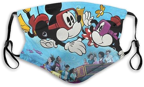 Mickey und Minnie Mouse Mundschutz mit Filter Unisex Anti-Staub waschbar Wiederverwendbar Einstellbar Earloop Mundschutz Anti Pollution