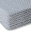 Gray Herringbone Crib Sheet for Boys and Girls - Double Brushed Ultra Microfiber Luxury Crib Sheet Set By Where The Polka Dots Roam. Fits a Standard 52 mattress.