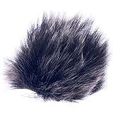 Micrófono Solapa de Parabrisas Antiviento Protección Elástica Negro