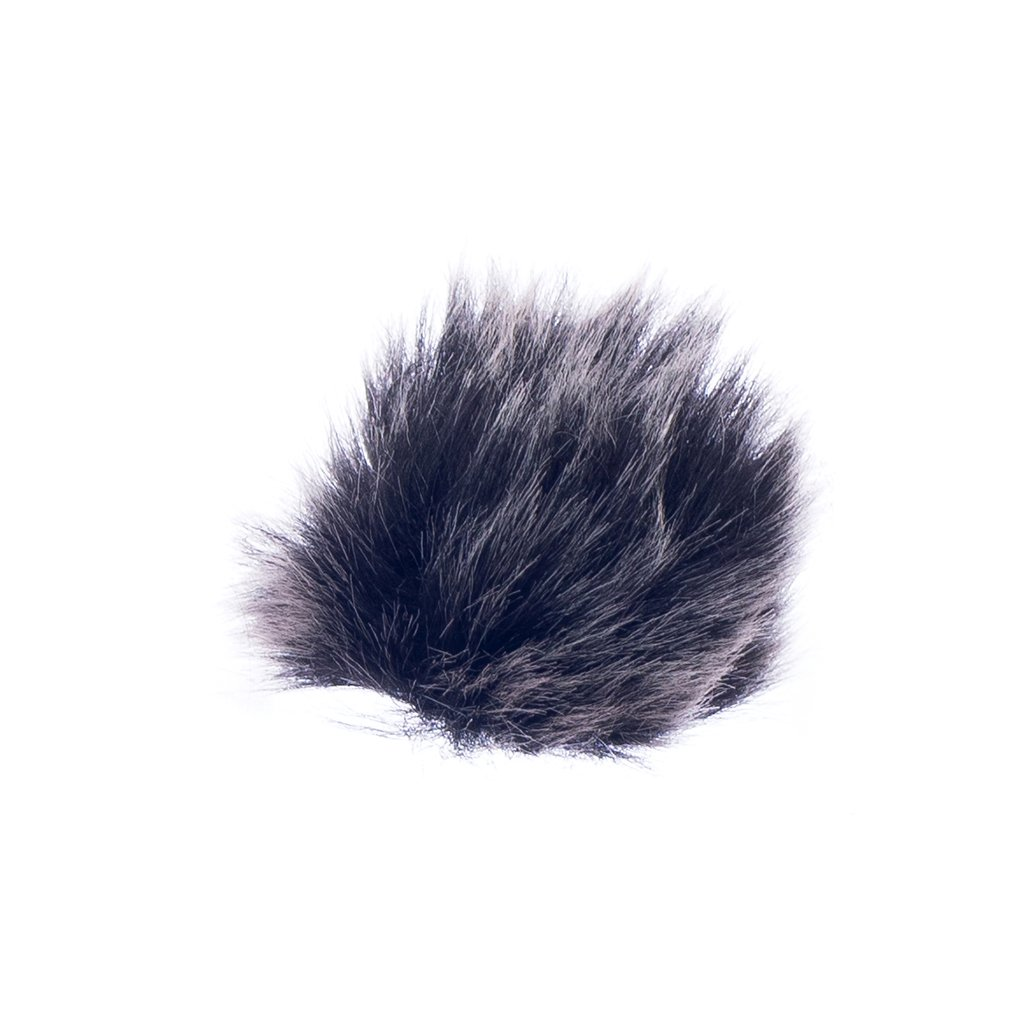 Black Fur Microphone Windscreen for Lapel Lavalier Mic Generic STK0157001417