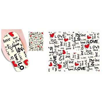 Amazon.com : Wintefei Different Letter Animal Nail Art Sticker DIY Decal Mixed Manicure Decor XF1294 : Beauty