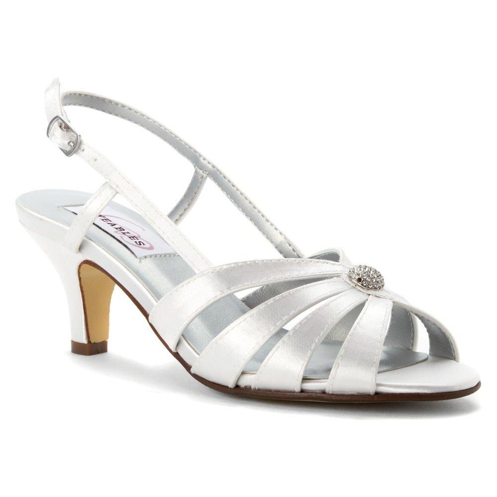 Dyeables, Inc Womens Fiona Dress Sandal B013Q61U94 8 C/D US|White Satin