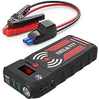 Beatit BT-G18 2000A Peak - Arrancador portátil para Coche (hasta 8.0 L de Gas y 8.0 L de diésel) con Cable de Arranque Inteligente, Cargador inalámbrico