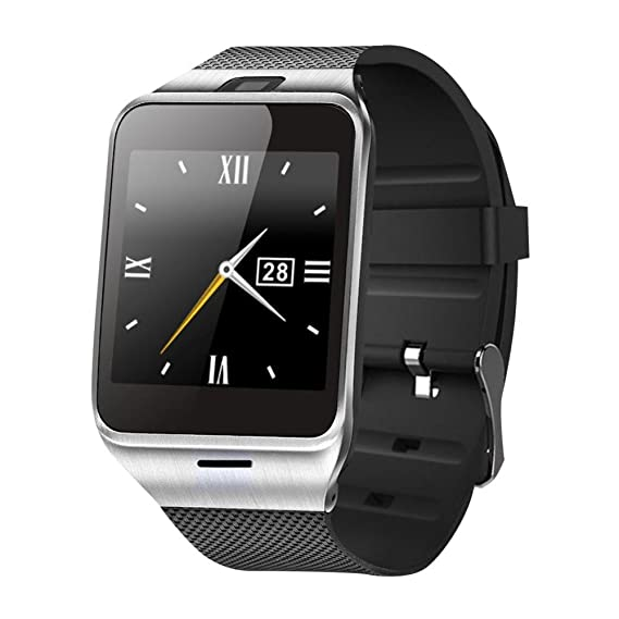 Twinbuys GV18 1.55 Inch Touch Screen Bluetooth Smart Watch Phone TF Card Waistwatch for IOS iPhone Android Samsung Remote Control NFC Pedometer ...