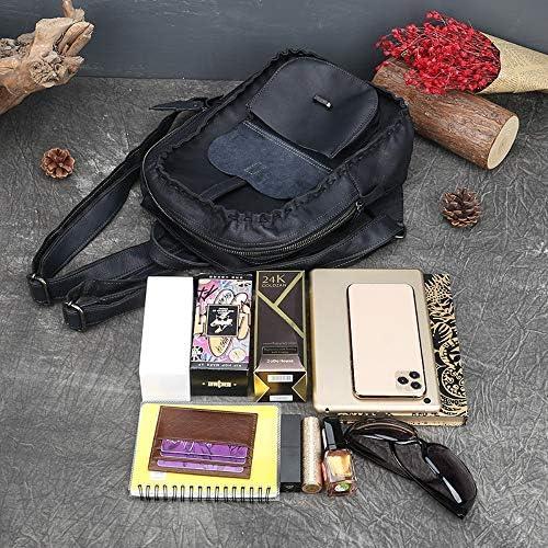 GJIAWI Sac à Dos en Cuir véritable des Femmes Rucksack Ladies Daypacks Casual Sac bandoulière école Bourse Satchel pour Le collège