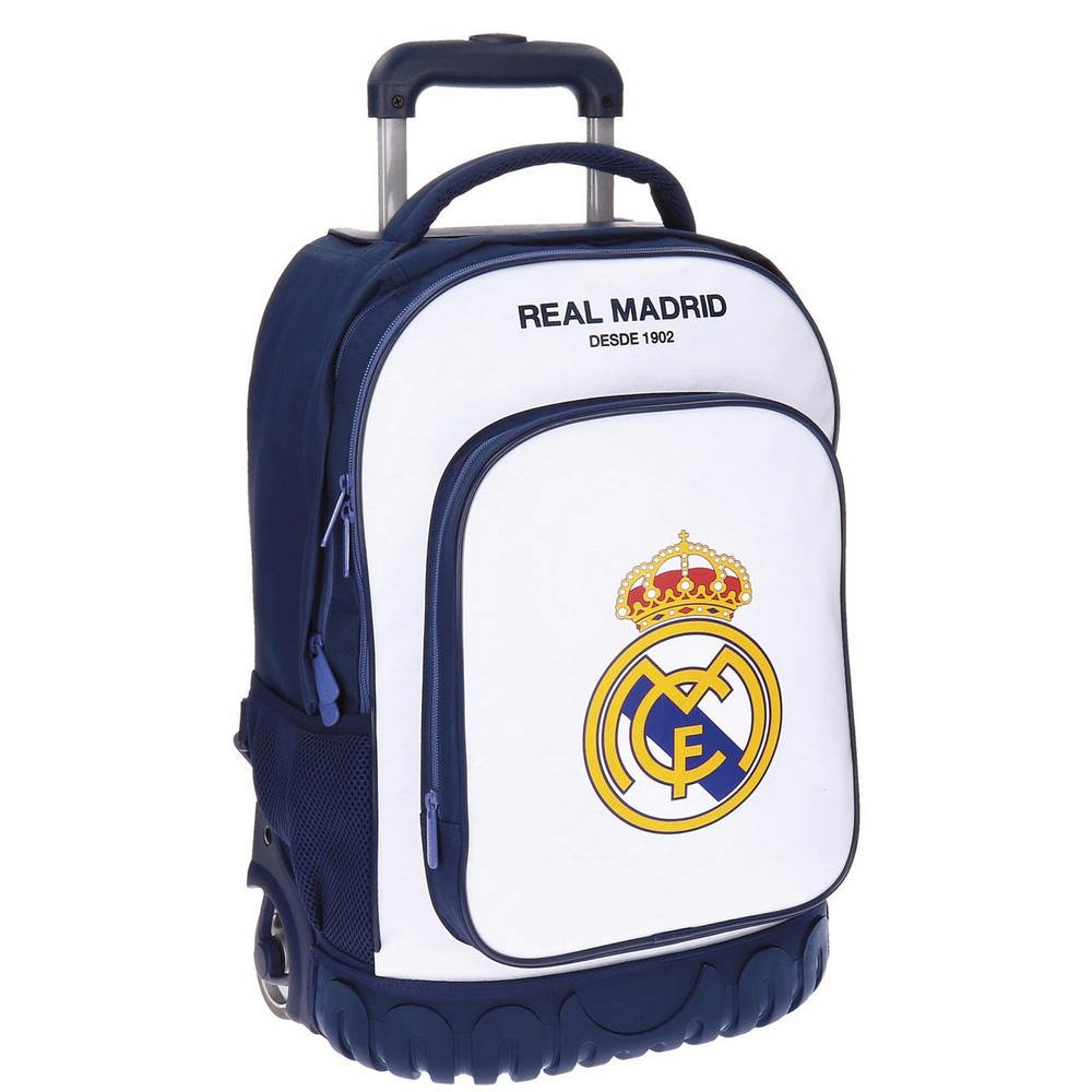 Real Madrid Campus Kindergepäck, 50 cm, 33.6 liters, Weiß (Blanco)
