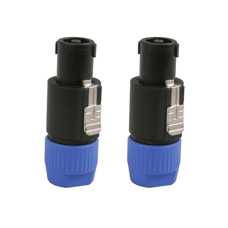 2 Genuine Neutrik NL4FC Speakon Twist-Lock Speaker Cable 4 Pole Connector Plugs 2PK 4334420167