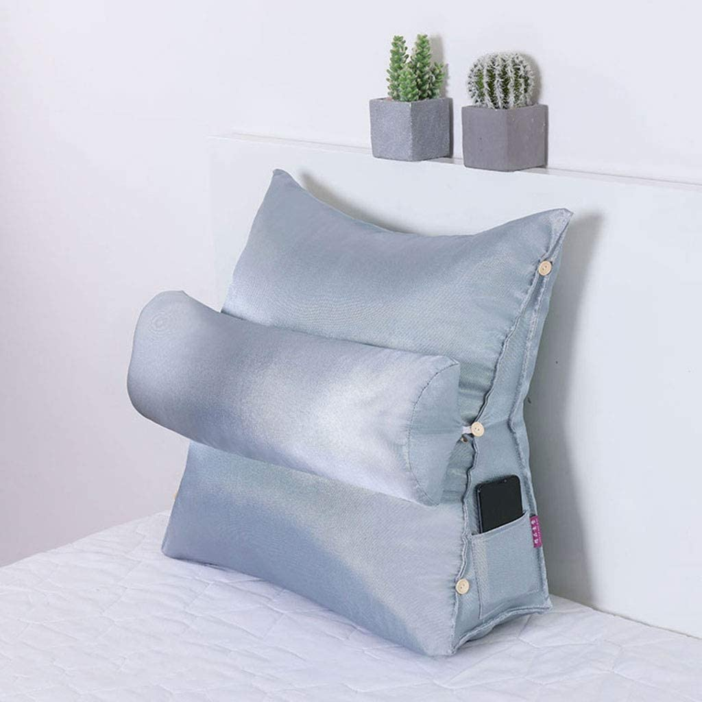 backrest Pillow Soft Reading & Bed Rest Pillow,Wedge Pillows,Office Chair Lumbar Support Cushion,Sofa Back Cushion Back Cushion for Bed,for Reading/Relaxing/Use Cell Phone/Watching TV