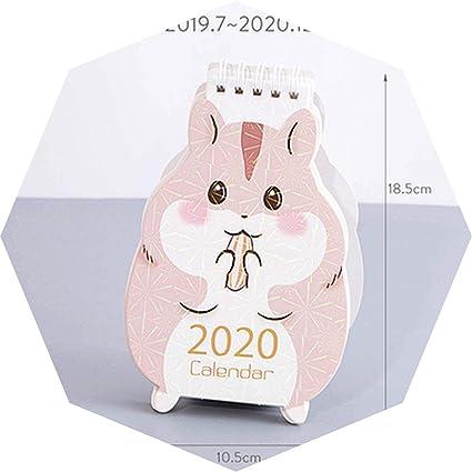 Calendrier Kawaii 2020 Mini Calendrier De Bureau Notes