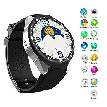 Montre Intelligente Bluetooth Homme et Femmes Montre Connectée Bracelet GPS, Multi-Touch 1.39 Grande
