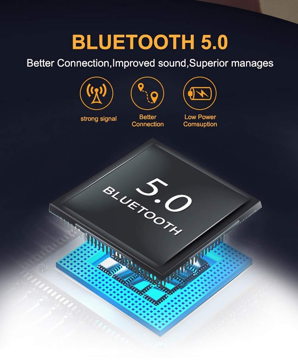 5.0 Auricolari Bluetooth Senza Fili in Ear con Custodia da Ricarica Microfono Leggeri Hi-Fi Cuffie per iPhone Sport