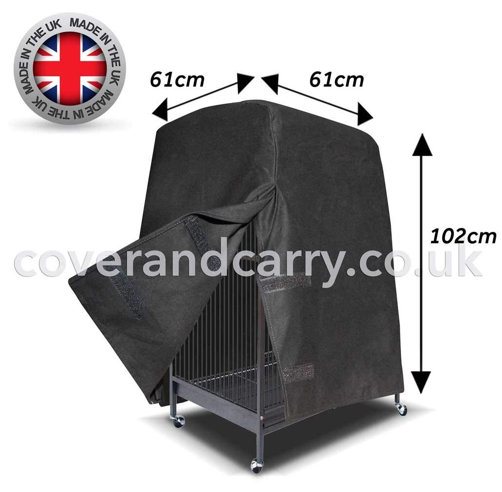 Made in the UK from full blackout cotton Varying Sizes Parrot Bird Cage Cover A little more money a lot more quality!! 30 x 33 x 44