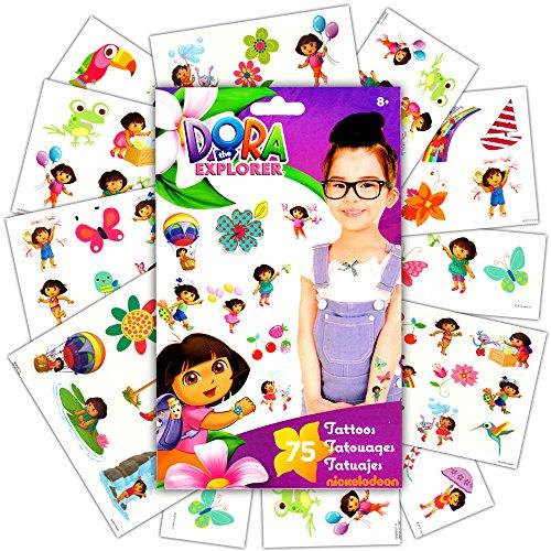 Nickelodeon Standard Tatto Bag - Dora The Explorer - Temporary Kids Games Toys tt2033 -