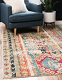Unique Loom Sedona Collection Distressed Southwestern Tribal Blue Rectangle (9' x 12')