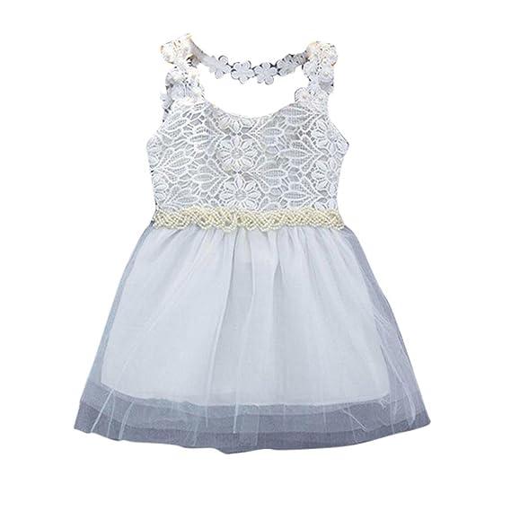 Flower Girls Summer Princess Dress Kid Baby Party Wedding Lace Tulle Tutu Dress