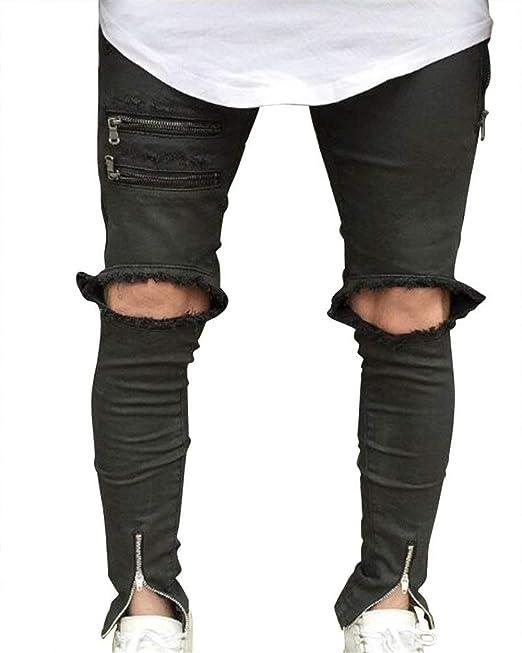 Huixin Jeans Acampanados para Hombres Jeans Ajustados De Mezclilla Moda  Slim Pantalones Vaqueros De Mezclilla Estilo Exclusivo Pantalones De  Mezclilla  ... b7257c53da58