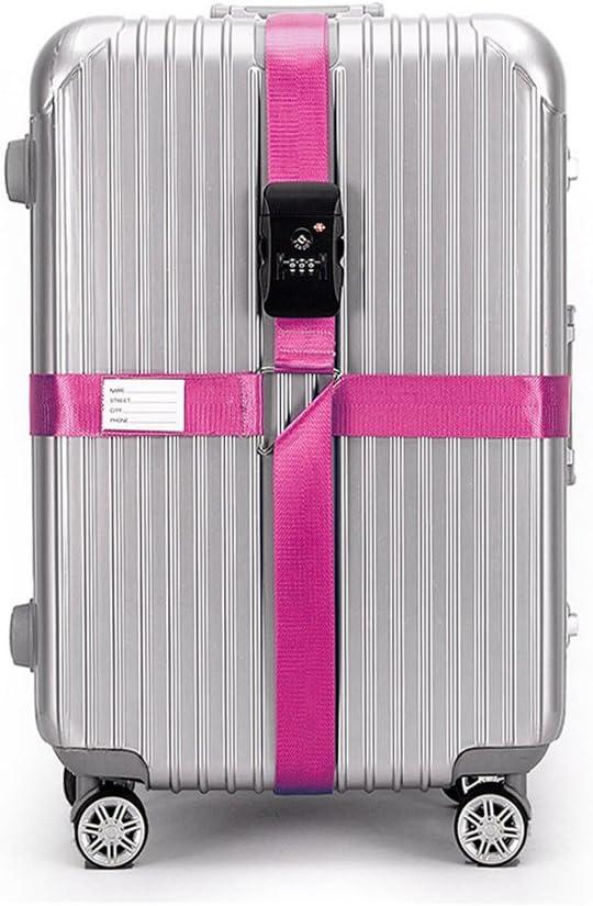 Bleu BlueCosto Croix TSA Verrouillage Sangle /à Bagage Sangles de Voyage Valise Bagages