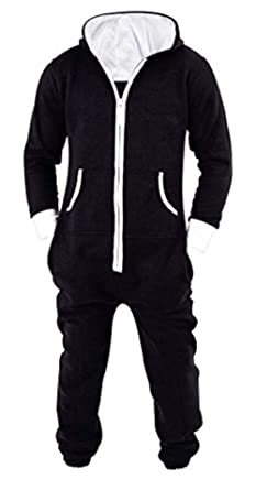 8b347ba7e5d9 SKYLINEWEARS Men s Unisex Onesie Jumpsuit One Piece Non Footed Pajama  Playsuit Small Black
