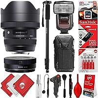 Sigma 12-24mm f/4 DG HSM Art Lens for Nikon Digital SLR Cameras + 32GB 20PC Bundle for D810 D750 D610 D7500 D7200 D7100 D7000 D500 D5600 D5500 D5300 D5200 D5100 D3400 D3300 D3200 and D3100
