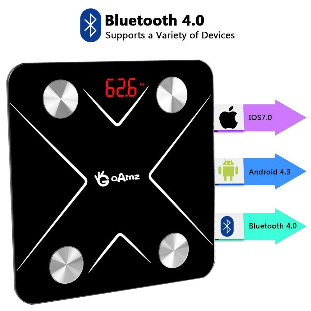 Báscula Grasa Corporal Bluetooth,Báscula de Baño Digital Recargable Báscula Inteligente con Móviles Andriod y iOS Analizar 12 Funciones: Amazon.es: Salud y ...