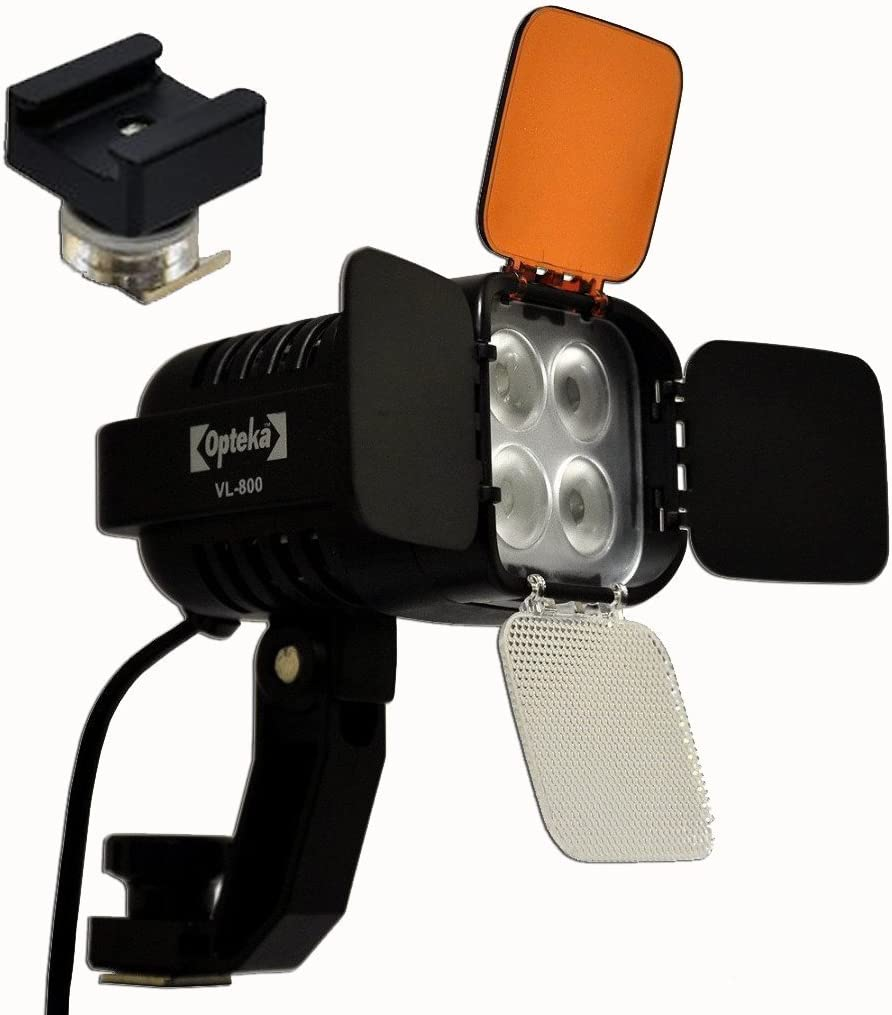 Opteka VL-800 Ultra High Power LED Camcorder Video Light Kit with The SA-S Adapter for Sony Active Interface Hot Shoe Camcorders AIS