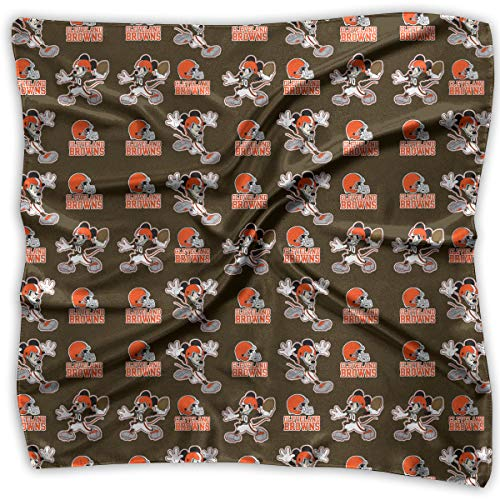 Aoskin Cleveland Browns Square Hair Scarf Women's Scarf Fashion Printed Square Scarf -