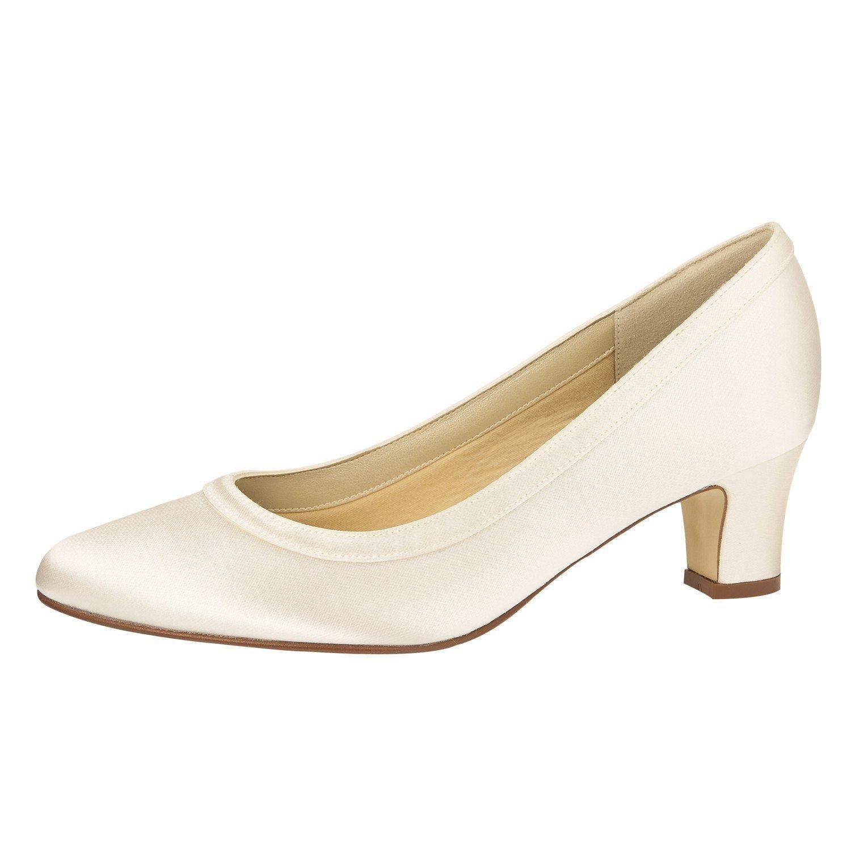 Elsa Coloured Shoes - Caña baja de raso mujer 39 EU|marfil