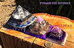 Orgonite Crystal Pyramid \\ Violet Flame Alchemy