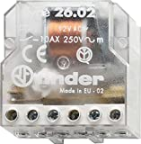 Finder 26.08.8.230.0000 DPST-NO 10A, 230V AC Coil, AgNi Contact, 4 Step Impulse/Latching Relay