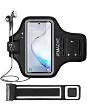 Galaxy Note 10+/9/8 Brassard, JEMACHE Gym Course Exercice entraînement Arm Band Coque pour Samsung Galaxy Note 8 9 10 Plus avec clé de visites (Noir)