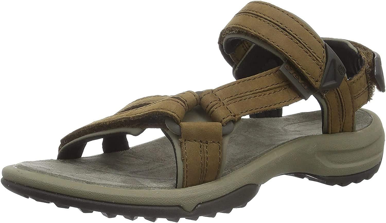Brown 6 UK Brown BRN Teva Womens Terra Fi Lite Leather Sports and Outdoor Hiking Sandal 39 EU