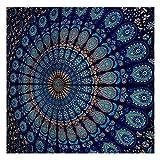 Blue Tapestry Wall Hanging Mandala Tapestries
