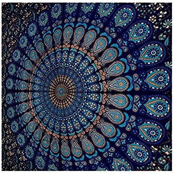 Amazon.com: Blue Tapestry Wall Hanging Mandala Tapestries ...