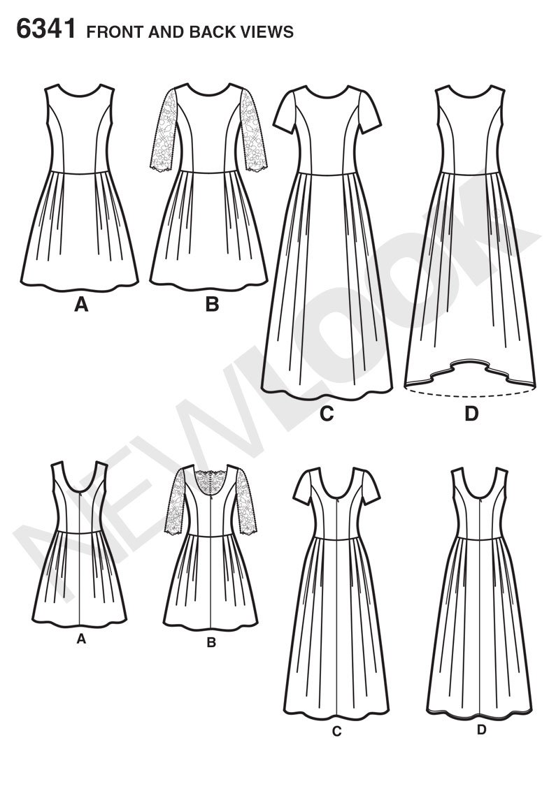 New look 6341 size a misses dress in 3 lengths sewing pattern new look 6341 size a misses dress in 3 lengths sewing pattern multi colour amazon kitchen home jeuxipadfo Image collections