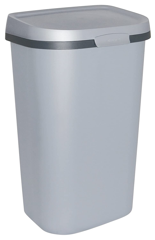 Allibert 211659 Mistral Rubbish Bin with Flat Lid, Polypropylene ...